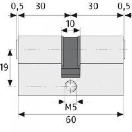 abus profilzylinder ec550 ec 550 schlie zylinder verschiedenschl ebay. Black Bedroom Furniture Sets. Home Design Ideas