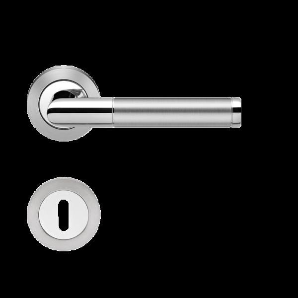 Karcher Rosettengarnitur Rio Steel ER34, Edelstahl poliert / matt (rund)