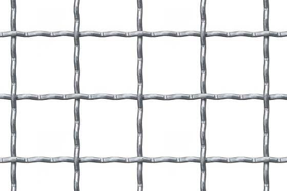 Wellengitter aus Stahl send. verzinkt MW 42x42x4 mm