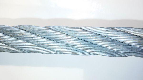 Stahldrahtseil verzinkt Ø 4mm, 6 x 7 FC