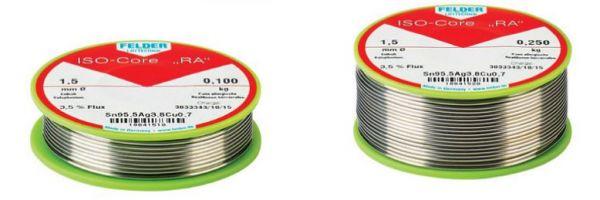 """Lötdraht ISO-Core """"RA"""" Sn60Pb40 ø2,0 mm & ø1,5 mm"""