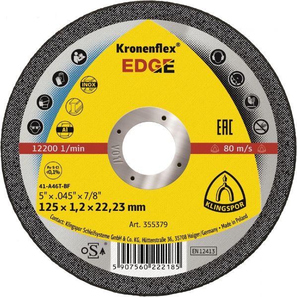 Klingspor Kronenflex EDGE Trennscheiben 125x1,2x22,23 mm Stahl, Edelstahl, Aluminium 25 Stück