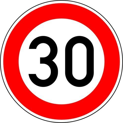 """Verkehrszeichen 274-30 """"Zulässige Höchstgeschwindigkeit 30 km/h"""""""