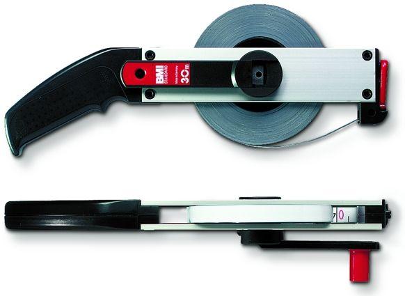 BMI Rahmenbandmaß Stahl 25 m, cm-Teilung