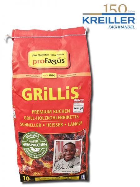 Grillis Premium Buchen Grill-Holzkohlebriketts 10 kg