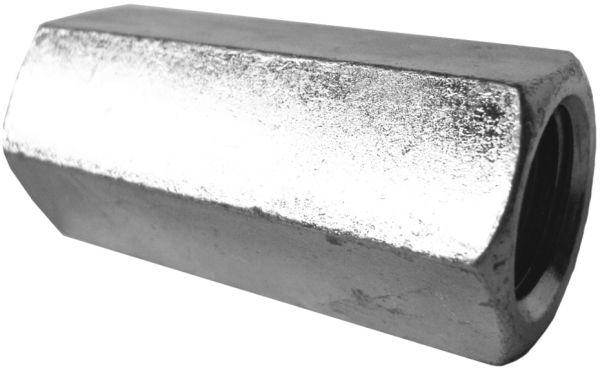 Langmuttern Gewindemuffen Niro Edelstahl A2 V2A DIN 6334 Außensechskant