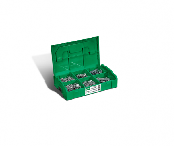 SPAX® Montagekoffer L-BOXX Mini Schraubenset mit 6 Abmessungen, Senkkopf, 4CUT