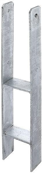 H-Pfostenträger Stahl roh, feuerverzinkt, zum Einbetonieren, mit CE-Kennzeichnung nach ETA-10/0210