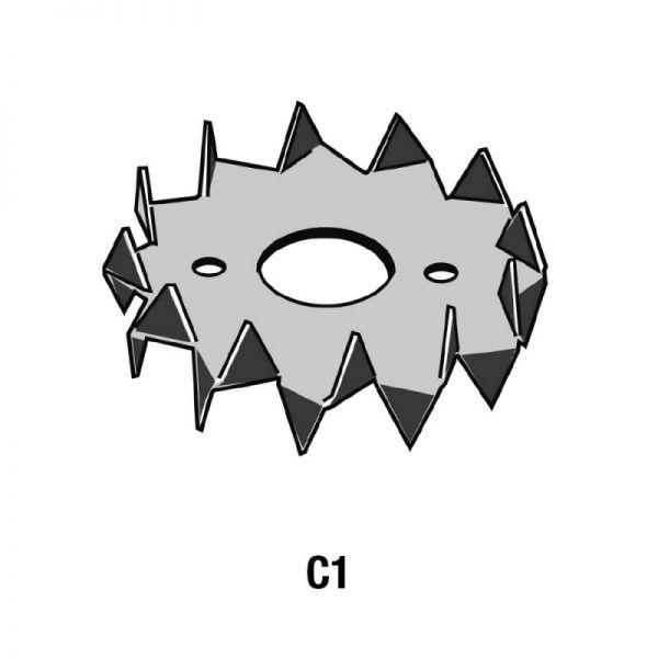 Bulldog-Holzverbinder Typ C1, Zweinseitig, feuerverzinkt