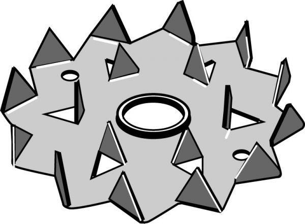 Bulldog-Holzverbinder Typ C2, einseitig, feuerverzinkt