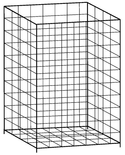 Papierkorb weiß 41 x 25 x 62 cm