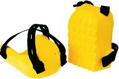 Knieschoner Kastenform, gelb,
