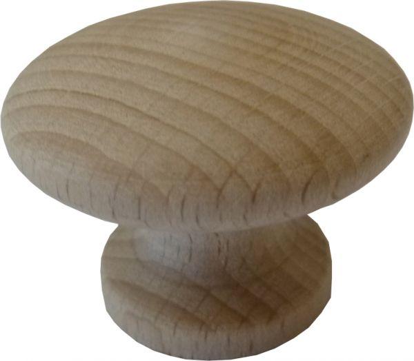 Möbelknopf aus Holz natur, rund