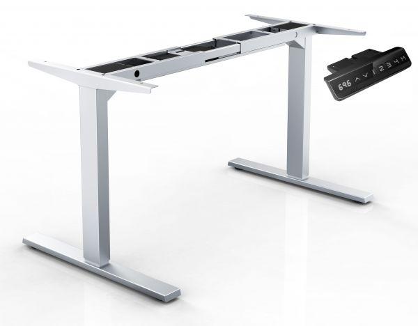 Elektrisches Steh-Sitz-Tischgestell, RAL 9006 silber