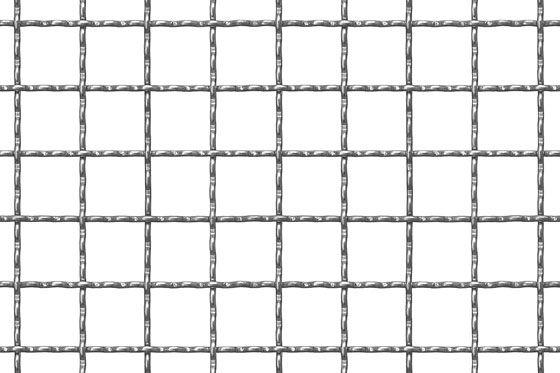 Wellengitter aus Stahl send. verzinkt - St 02 Z DX51D MW 21 x 21 x 2,5 mm