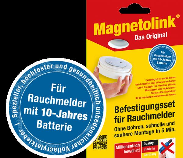 Magnetolink - Befestigungsset für Rauchmelder (Magnetpad)