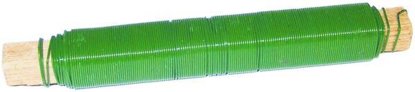 5x Bindedraht 0,65 grün PVC ummantelt mm auf Holzstäbchen